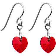 Titanium-earrings-with-Siamred-Swarovski-chrystal-heart